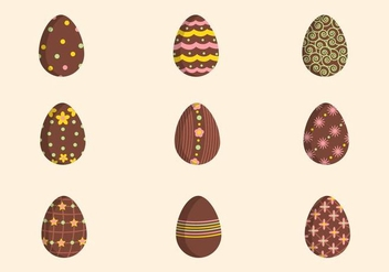 Flat Easter Chocolate Vectors - Free vector #433445
