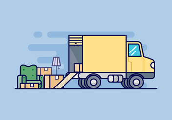 Moving Van Illustration - vector #433455 gratis