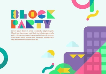 Block Party Background - vector gratuit #433495