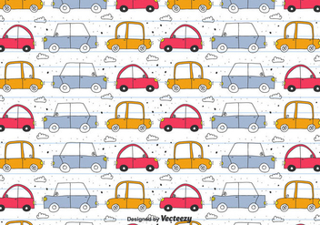 Doodle Car Vector Pattern - Free vector #433505