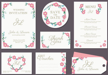 Boda Invitation Card Vector - vector gratuit #433515