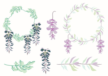 Floral Frame Vector - Free vector #433555