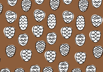 Brown & White Geometrical Pine Cones - vector gratuit #433565