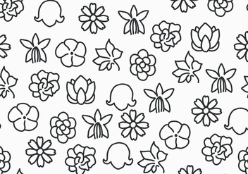 Black & White Flowers - Free vector #433575