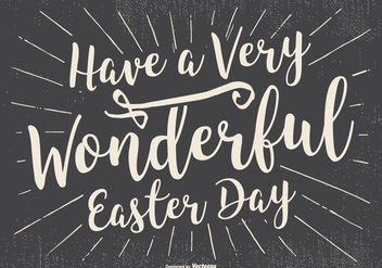 Typographic Happy Easter Illustration - vector gratuit #433595