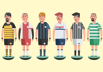 Subbuteo Game Players Vector Pack - бесплатный vector #433635