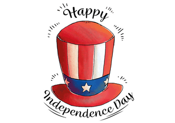 Watercolor Hat Uncle Sam To Independence Day - Kostenloses vector #433695