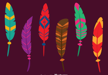 Nice Bird Feather Vectors - Free vector #433715