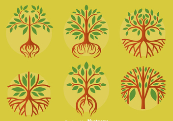 Great Tree With Roots Vectors - Free vector #433725