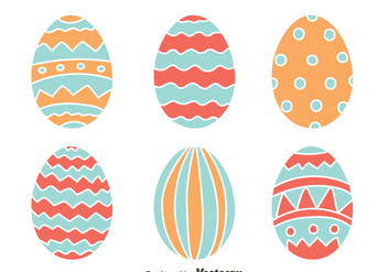 Easter Eggs Collection Vector - vector gratuit #433755