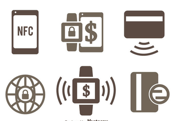 Nfc Payment Icons Vectors - Free vector #433775