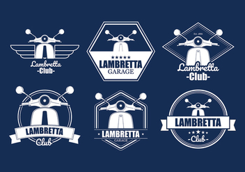 Lambretta Badges Free Vector - бесплатный vector #433785