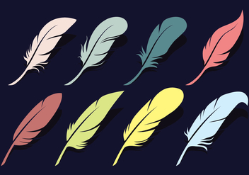 Pluma Vector Icons Set - vector #433875 gratis