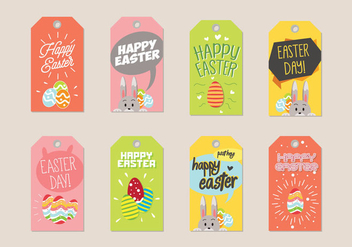 Easter Gift Tag Vector - Free vector #433885