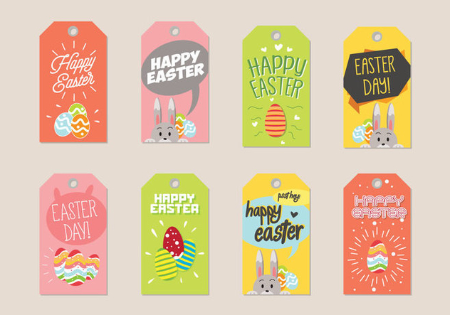 Easter Gift Tag Vector - Kostenloses vector #433885