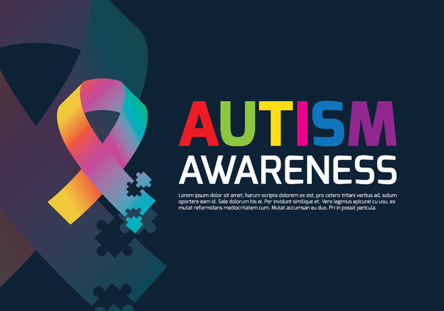 Autism Ribbon Poster - Free vector #433925