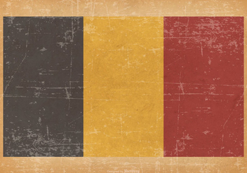 Flag of Belgium on Grunge Background - Kostenloses vector #433935
