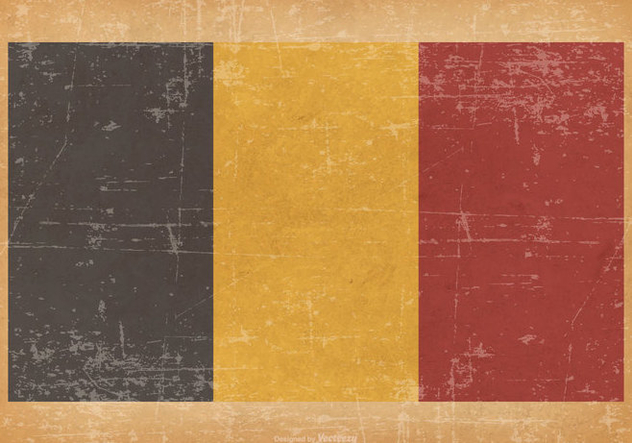 Flag of Belgium on Grunge Background - Free vector #433935