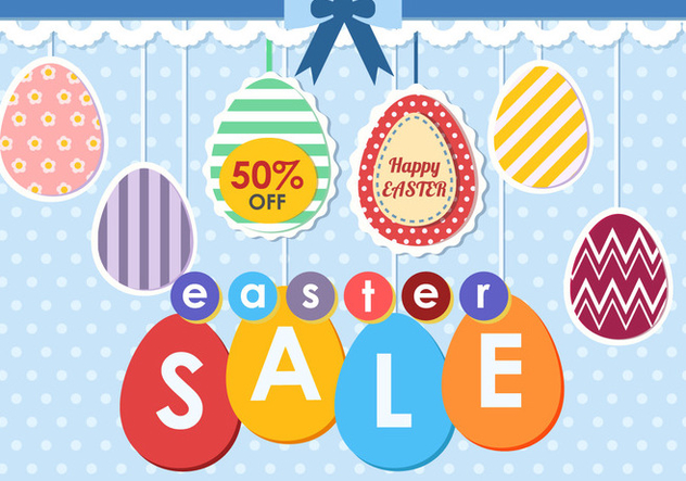 Easter Egg Sale Tag - Free vector #433955