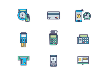 Icon Pack of E-Commerce Payment - vector gratuit #433965