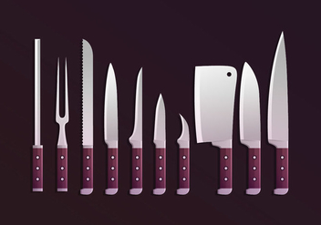 Knifes Collections Vector - бесплатный vector #433975