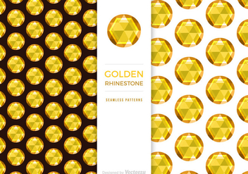 Free Golden Rhinestone Background Vector - Free vector #433995