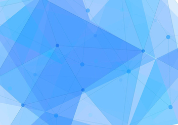 Free Vector Blue Polygon Background - Kostenloses vector #434085