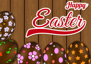 Background Of Chocolate Easter Eggs - vector #434165 gratis