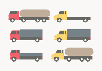 Red and Yellow Vector Moving Van Collection - Kostenloses vector #434265
