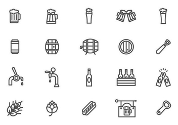 Minimalistic Beer and Cerveja Vectors - Free vector #434275