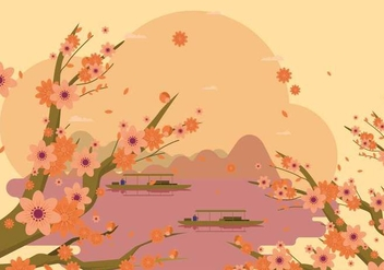 Free Elegant Spring Peach Flower Background - Kostenloses vector #434285
