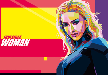 Invisible Woman vector WPAP - Free vector #434295