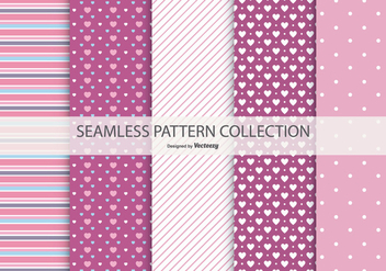 Cute Seamless Patterns Collection - Free vector #434325