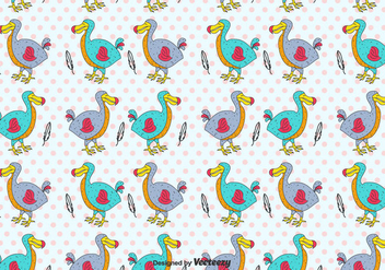 Cartoon Dodo Vector Pattern - бесплатный vector #434665