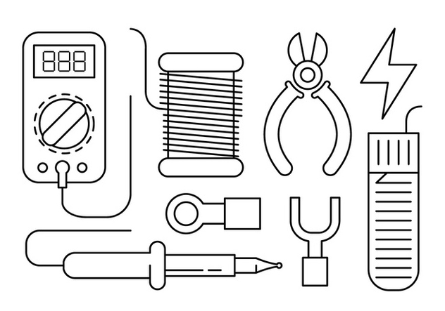 Free Linear Soldering Vector Elements - Free vector #434695