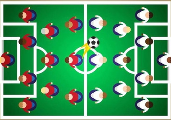 Subbuteo Soccer Illustration Vector - Free vector #434715