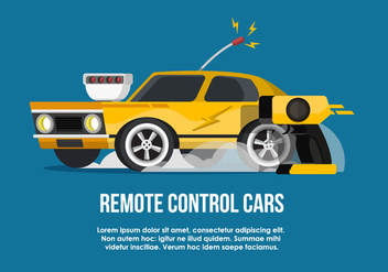 RC Car Flat Vector Illustration - vector gratuit #434725