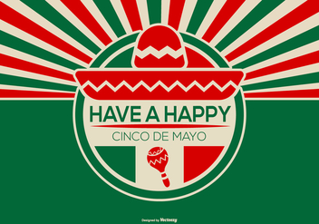 Retro Style Cinco de Mayo Illustration - бесплатный vector #434735