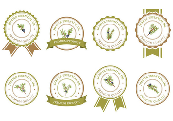 Juniper Badges Vector - Free vector #434755