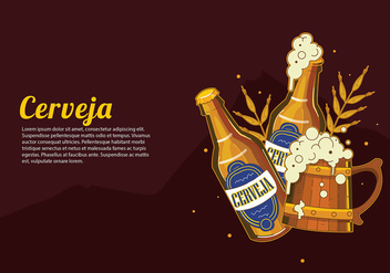 Cerveja Open Bottle Free Vector - бесплатный vector #434825