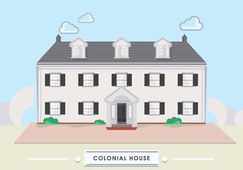 Colonoal House - vector #434875 gratis