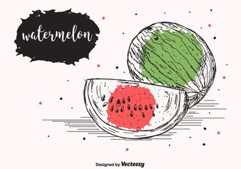 Watermelon Vector Background - vector gratuit #434895