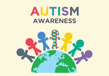 Autism Awareness Illustration - vector gratuit #434915
