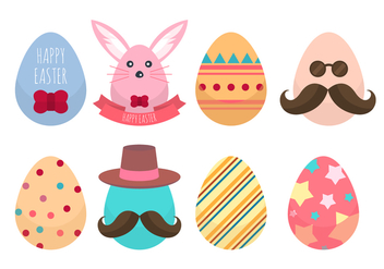 Free Hipster Easter Egg Collections Vector - Free vector #434955