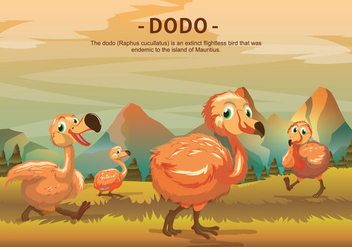 Dodo Bird Character Vector Illustration - бесплатный vector #434985