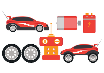 RC Car Part Vector Icons - vector gratuit #435035