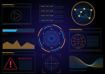 Free HUD Graphic Interface Vector - Kostenloses vector #435115