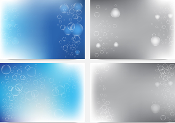 Bubbles In Fizzing Background - vector gratuit #435135