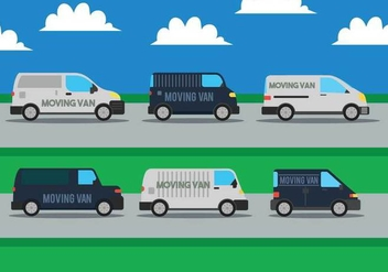 Moving van vector set - Free vector #435145