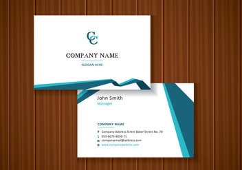 Free Abstract Business Cards - vector gratuit #435195